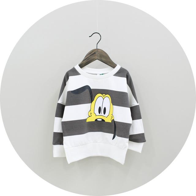 2017 Outono Crianças Esportes Lazer T-Shirt Camisola Com Capuz Crianças Hoodies Crianças Outerwear Desenhos Animados Pulôver Longo Casaco Meninas