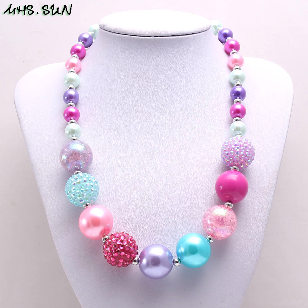 BN547-1 (5),$2.3. child chunky beads necklace colorful girls bubblegum necklace handmade jewelry for kids toy gift 1pcsJPG