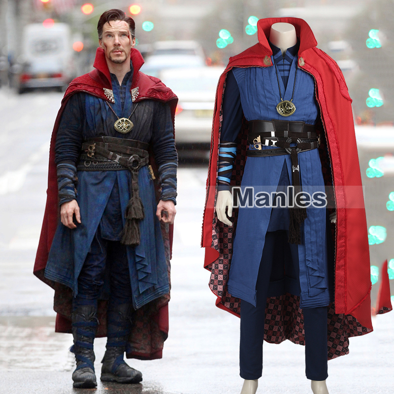 Dottor Strange Cosplay Costume Stephen Steve Vincent Strano Marvel Movie Supereroe Su ordine di Carnevale Collana Mantello Del Capo
