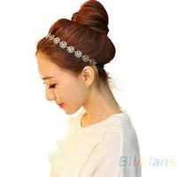 24 Pcs Fashion Lovely Metallic Lady Hollow Rose Flower Elastic Hair Head Band Headband Headwear Accessories Women Garland BWN5