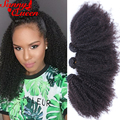 4B 4C Human Hair Extension 8A Brazilian Kinky Curly Virgin Hair 4Pcs Afro Kinky Curly Human Hair Weave SunnyQueen Hair Products