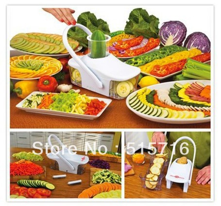 Free Shipping As Seen On Tv Slice O Matic Fruits Vegetables Slicer Advanced Mandoline Knife Kitchen