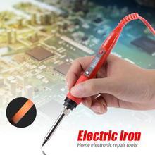 220-240V Digital Temperature Adjustable Electric Soldering Iron Weld Tin Welding Pen 30w rubber handle electronics diy welding soldering iron 220 240v ac