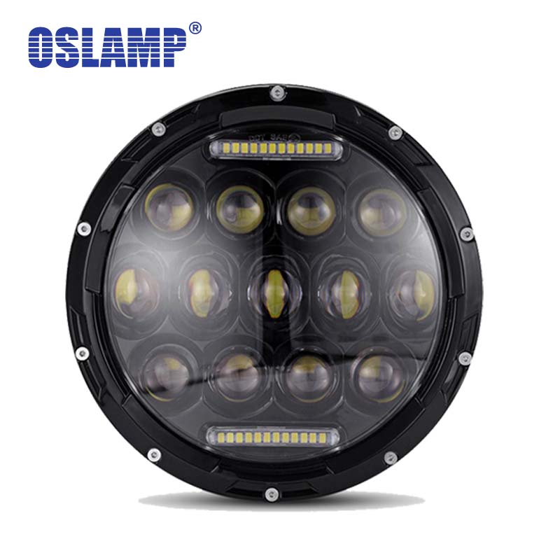 Oslamp 7inch 75W Hi Lo LED Headlight Bulbs DRL Sealed Truck Headlamp H4 H13 Led Driving Light for JEEP Wrangler/Hummer/Harley 2pcs 7inch 85w 75w cree led headlight for truck offroad with hi lo beam replacement kit for motorcycle jeep wrangler