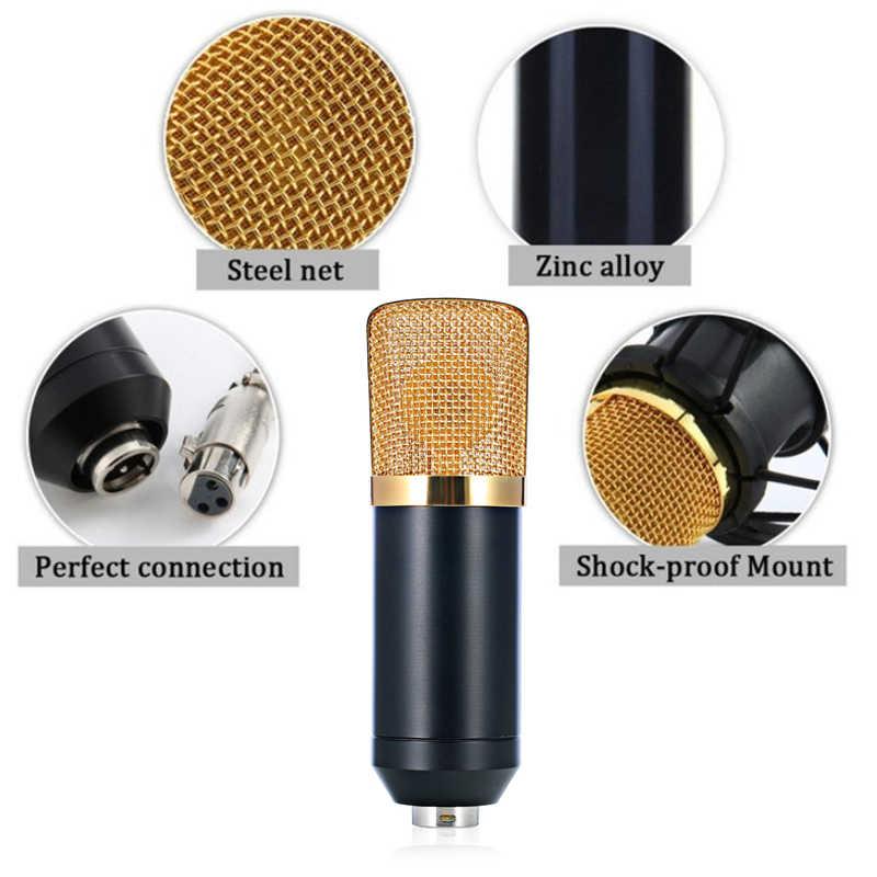 BM 700 micrófono de mano con cable profesional condensador de 3,5mm con micrófono de montaje de choque para grabación de ordenador Microfono BM700
