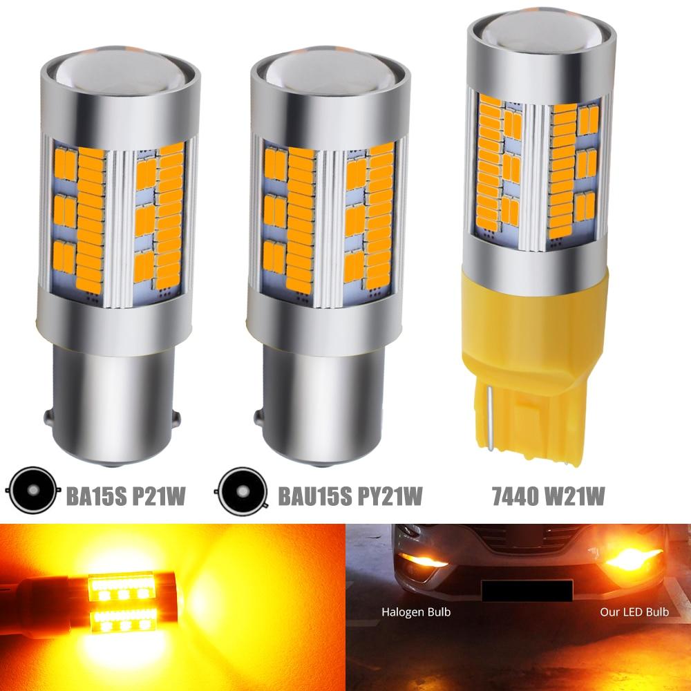 4 LED 1156 BAU15S PY21W Turn Signal Light Reverse Backup Lamp Bulb Amber White
