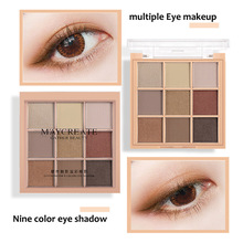 Beauty makeup blogger recommended The new Eyeshadow tray Diamonds sparkle portable matte Eye shadow Makeup tools