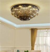 Moderno LED Luce di Soffitto di Cristallo Telecomando Plafoniera di Illuminazione A Soffitto per Soggiorno Sala da pranzo Apparecchio di Montaggio A Filo Della Luce-in Plafoniere da Luci e illuminazione su