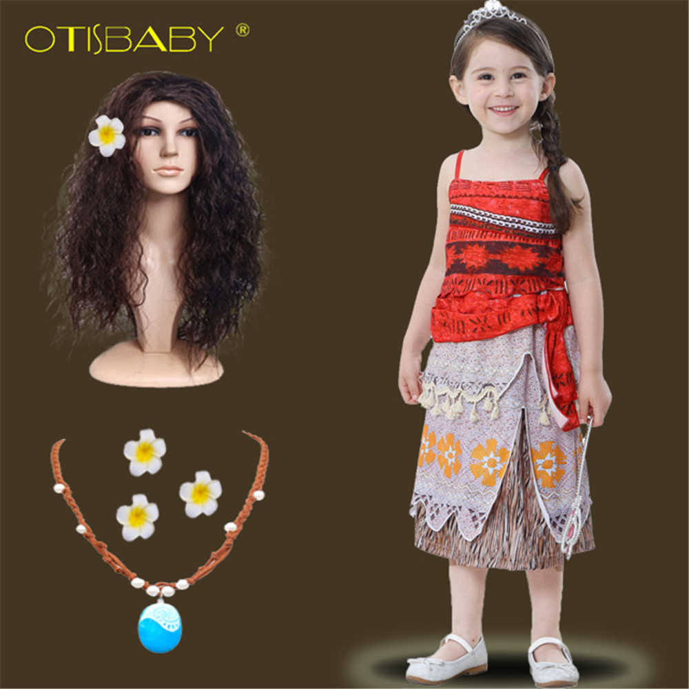 Girls Dress Up Party Costume Princess Party Birthday Necklace For Moana Cosplay