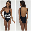 Trap Queen Overalls For Women 2016 Fashion Macaquinho Sleeveless Sexy Jumpsuit Skinny Print Playsuit Bodysuit Brazilian Rompers