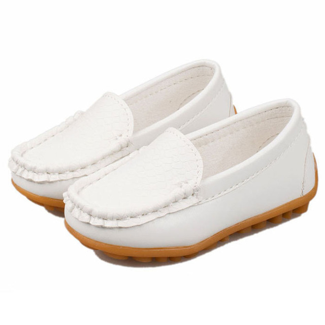 2017 New Fashion Kids Loafers Shoes Unisex Slip on PU Kids Casual Shoes Kids Creepers Boys/Girls Boat Shoes 9 colors Sapatos