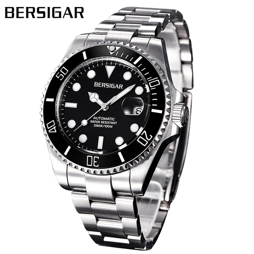 Relogio Masculino BERSIGAR montre pour hommes automatique en acier inoxydable montres hommes étanche affaires montre mécanique Erkek izle