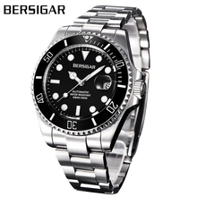 Relogio Masculino BERSIGAR мужские часы Автоматические из нержавеющей стали мужские водонепроницаемые часы Механические деловые часы Erkek izle