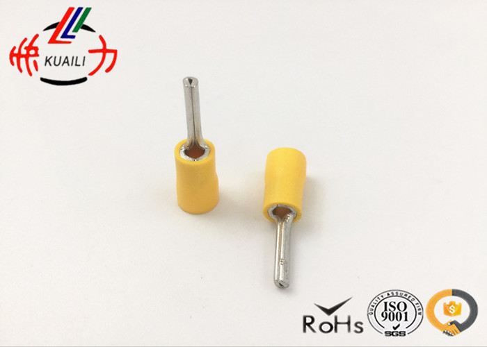 цена на 300pcs insulated pin terminals Connector YELLOW PTV 5.5-18 AWG 12-10