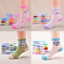 Детские носки сетчатые весенне-летние тонкие стильные носки с героями мультфильмов для маленьких мальчиков и девочек