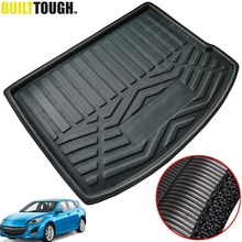Idéal pour Mazda 3 M3 BL hayon 2009 2013 coffre arrière doublure de coffre Cargo tapis plateau plancher tapis protecteur 2010 2011 2012