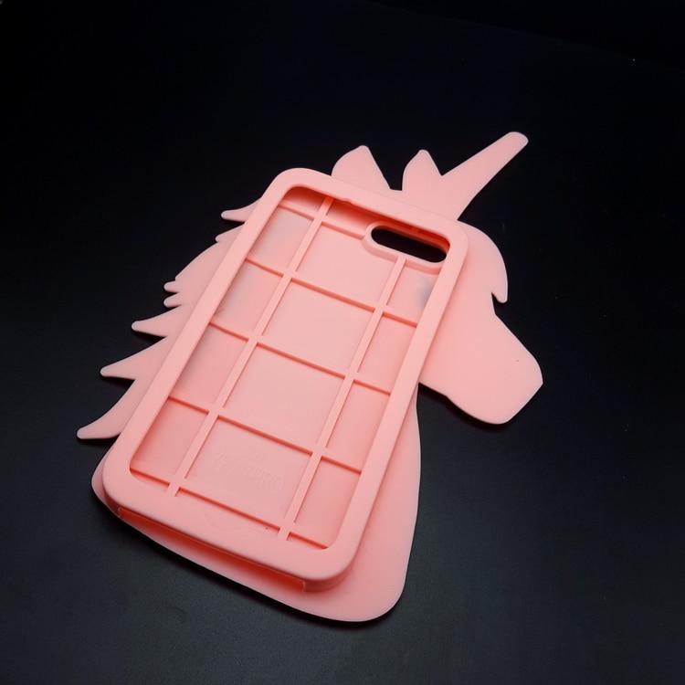 """HTB1NUSAOpXXXXciXXXXq6xXFXXXu - Fashion 3D Cute Cartoon Unicorn Soft Silicon Rubber Case Cover For iPhone 4 4s 5 5s SE 6 7 6s plus 7 plus 4.7/5.5"""" White Horse"""