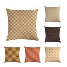 Rojo geométrico amarillo marrón rayas funda de cojín Estilo Vintage Fundas de cojín decorativas silla sofá cojines ZY407