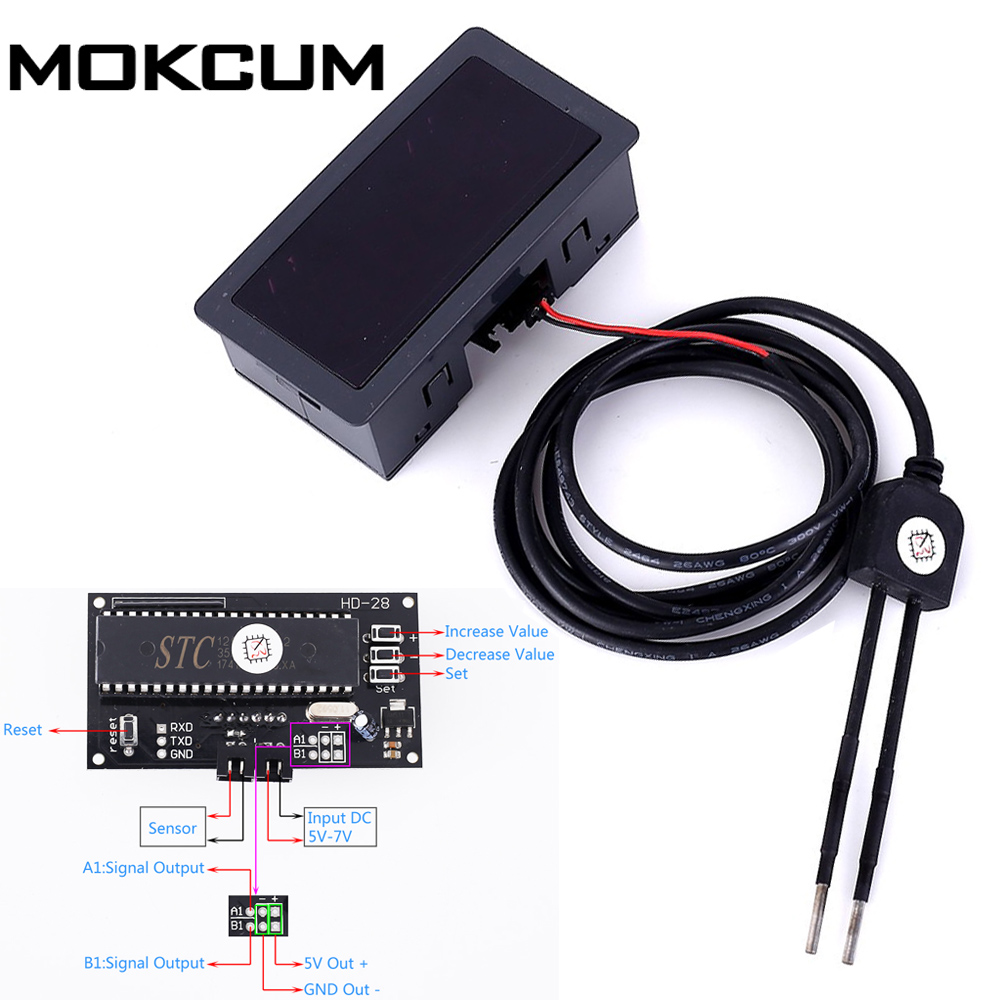 DC 5V Soil Humidity Sensor Moisture Controller Automatic Watering Relay Module Soil Moisture Monitor