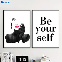 ФОТО fashion sexy girl inspiring quotes canvas painting nordic poster decoration pictures for living room wall pop art print quadro