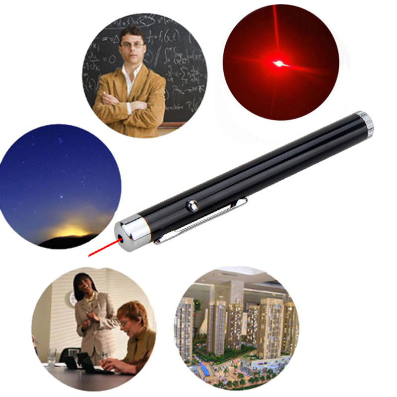 200m 1mW Red 650nm Hunting Laser Pen Black Silver Strong Visible Light Beam Laser point Powerful Military Laser Point Pen in Lasers from Sports Entertainment