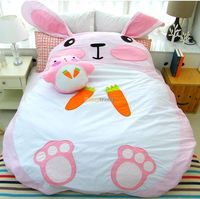 Fancytrader 195cm X 165cm Giant Plush Stuffed Double Size Rabbit Bunny Tatami Bed Mattress, Nice Gift, Free Shipping FT50662