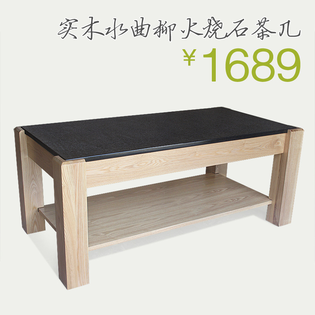Specials Natural Ash Wood Burning Stone Coffee Table Living Room Furniture Manufacturers Basalt