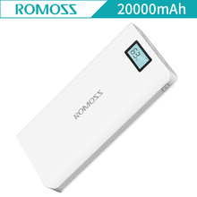 Romoss Sense 6 плюс 20000 мАч Мощность банк ЖК-дисплей Портативный Зарядное устройство Внешний Батарея Мощность банк Быстрая зарядка для IPhone Xiaomi samsung