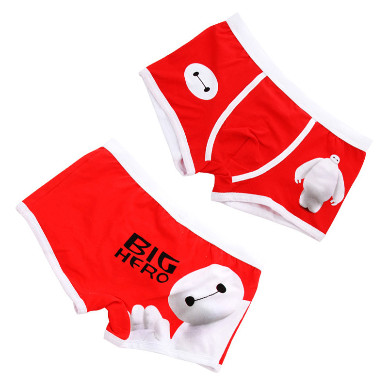 Free shipping High quality 100% cotton cartoon men's Boxer / men underwear the Lilo & Stitch