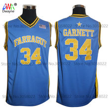 ec6150f824c 2018 New Kevin Garnett Jersey  34 Farragut High School Mens Cheap Throwback  Basketball Jersey Stitched BLUE Vintage Shirts