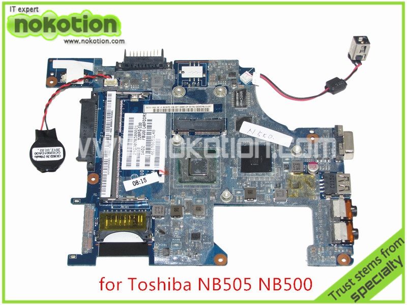 NOKOTION PBU00 LA-6851P K000126210 Laptop Motherbord For toshiba satellite NB500 NB505 Intel N550 CPU onboard DDR3 MainboardNOKOTION PBU00 LA-6851P K000126210 Laptop Motherbord For toshiba satellite NB500 NB505 Intel N550 CPU onboard DDR3 Mainboard