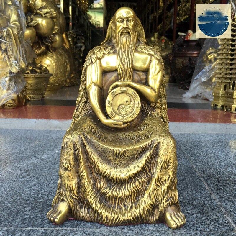 30CM # HOME business company efficacious Exorcise evil spirits 8 GUA Diagram ZUISHIYE Talisman brass FENG SHUI Mascot statue