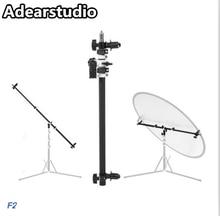 Studio Photo Bracket Grip Holder Swivel Head Reflector Arm Support Holding Cross Arm Boom Stand Reflective