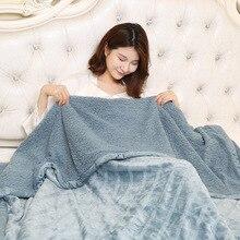 Useful High Quality Super Soft Flannel Plain Bedspread Blanket Throws Fleece Manta Coberto For Sofa Bed Car Office