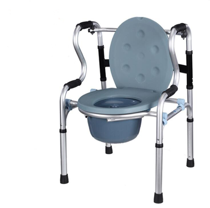 Adjustable Height Commode Chair Portable Potty Chair Mobile Toilet Closestool