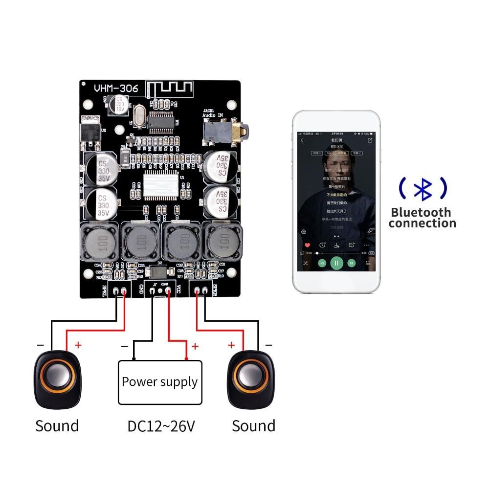 Bluetooth 4,2 TPA3118 2x30 W 8-26 V DC Stereo audio Bluetooth Digital power Verstärker Board Für verstärker