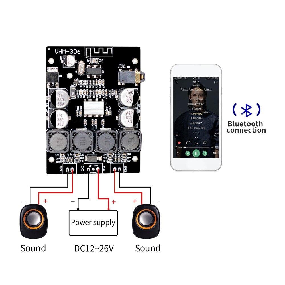 Bluetooth 4.2 TPA3118 2x30 W 8-26 V DC stéréo audio Bluetooth carte amplificateur de puissance numérique pour amplificateurs
