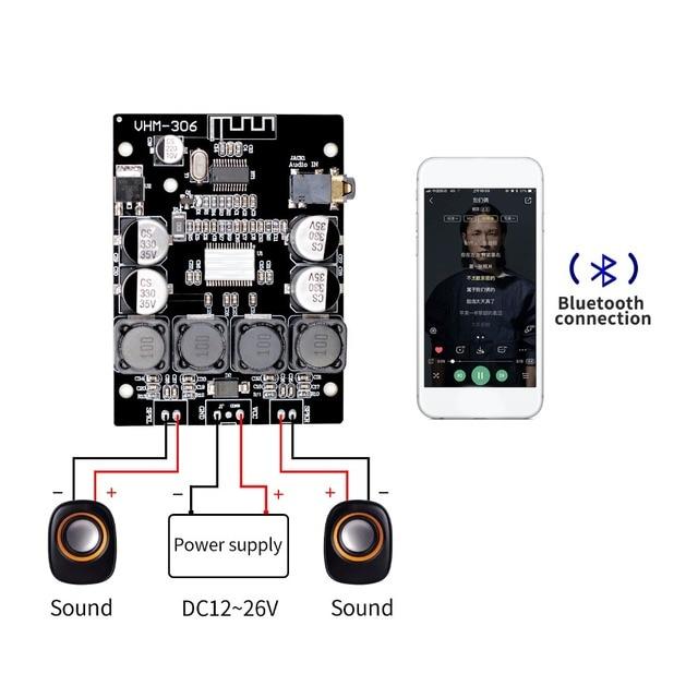 Bluetooth 5.0 TPA3118 2x30W 8 26V DC סטריאו אודיו Bluetooth דיגיטלי מגבר כוח לוח עבור מגברי