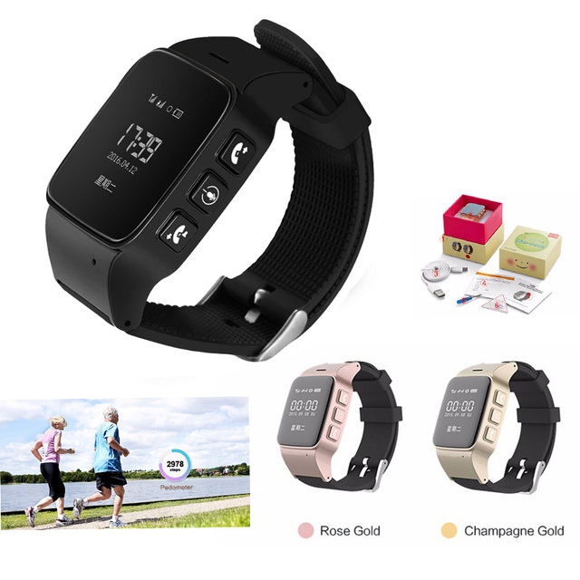 Idosos d99 smart watch alarme anti-perdido mini lbs rastreamento gps smartwatch wi-fi à prova d' água para as pessoas de idade os pais