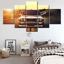 Abstract HD Print Wall Art Frame Canvas Pictures 5 Pieces Sports Car Sunset Landscape Painting Poster Home Decor For Living Room