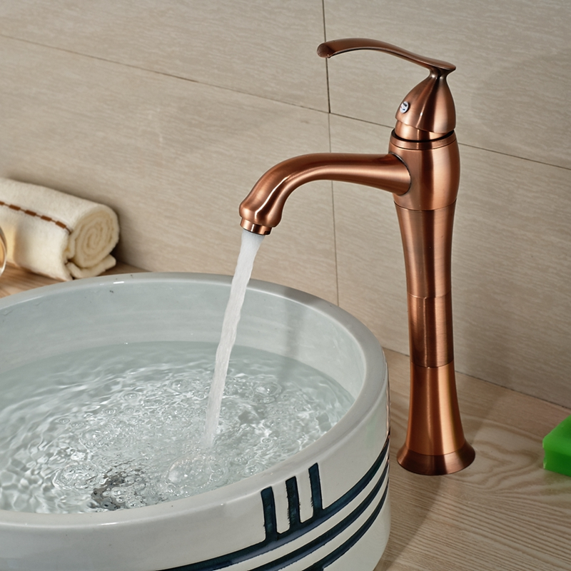 Buy Wholesale And Retail Solid Brass Bathroom Faucet Antique Copper Vessel Sink