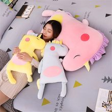 large Kawaii Unicorn Stuffed Pillow Baby Lovely Horse Animal Plush Doll Kids Children Birthday Gift Toys Girl's Room Decor(China)