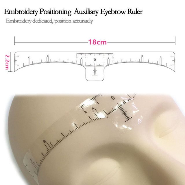 Eyebrow Stencil Sticker Disposable Eyebrow Microblading Ruler Permanent Makeup Shaping Measure Position Balance Beauty Tools 2