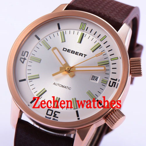 BLIGER 46mm mens Stainless Steel Case Mechanical Automatic Watch Mens Wristwatch цена и фото