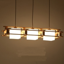 Dinner Living Room Pendant Lamp Solid Wooden Wood Japanese Lights Creative Decoration Dining Bar