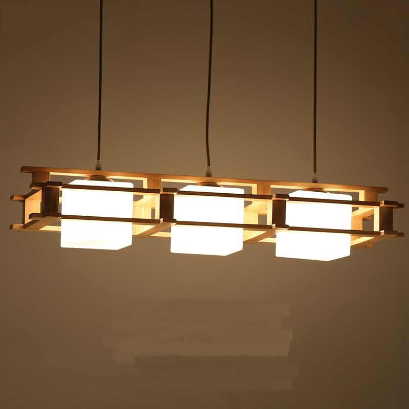 dinner living room pendant lamp Solid Wooden wood Japanese pendant lights creative wooden decoration dining room bar chinese style wooden pendant lights solid wood living room dining room pendant lamp creative bedroom study hallway zs37 lu1017