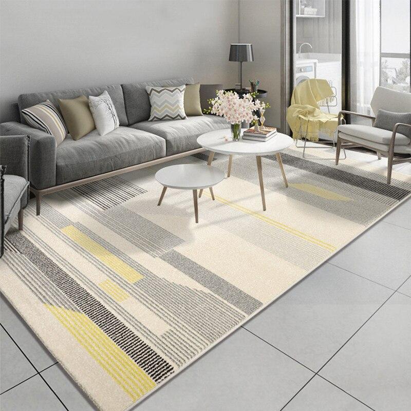 Style nordique Simple rayé tapis pour salon chambre moderne tapis maison géométrique tapis salon porte tapis tapis