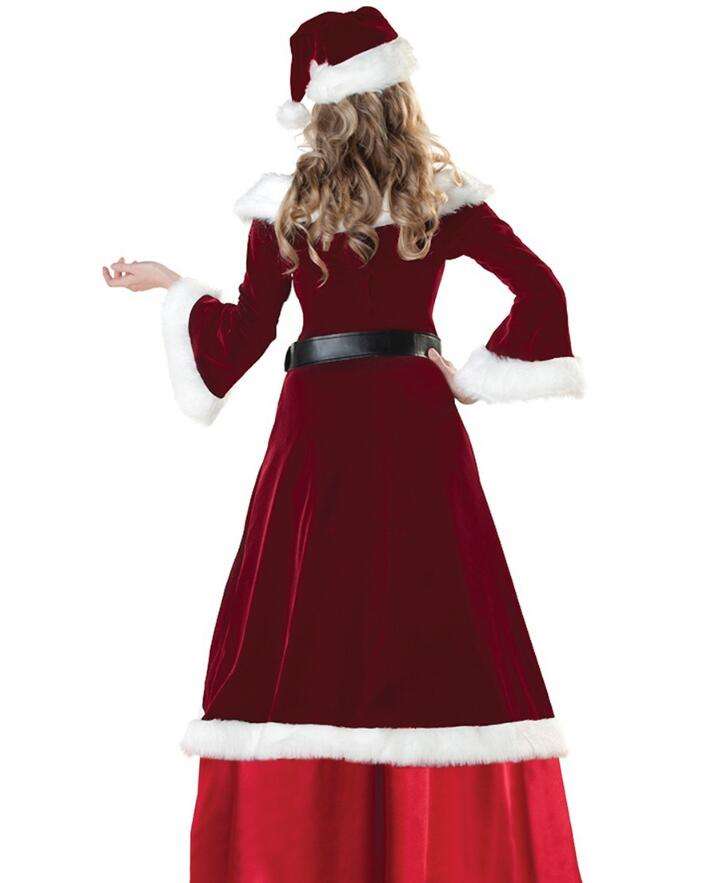 New Christmas 3PCs Red Santa Claus Party Queen Fancy Costume ...