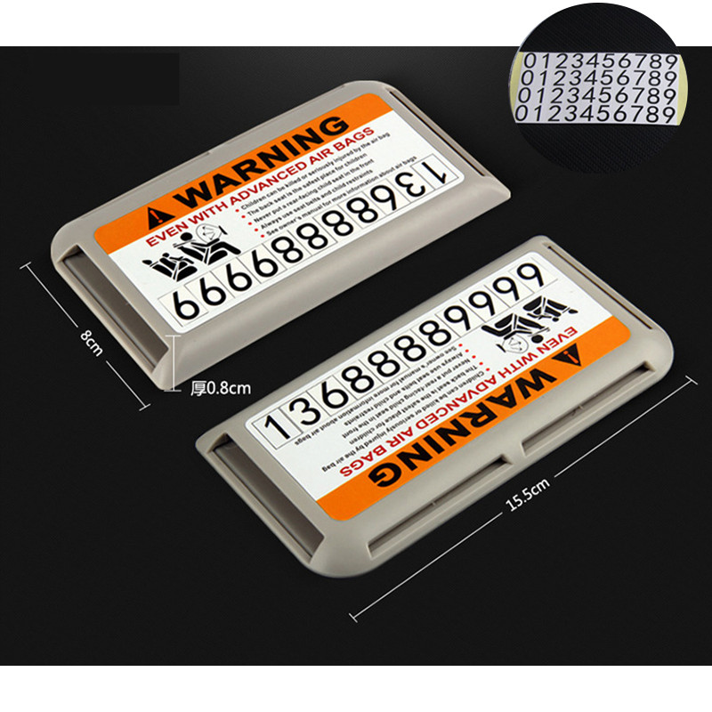 CNORICARC For Volvo Temporary Parking Number Plate Car Sun Visors ...