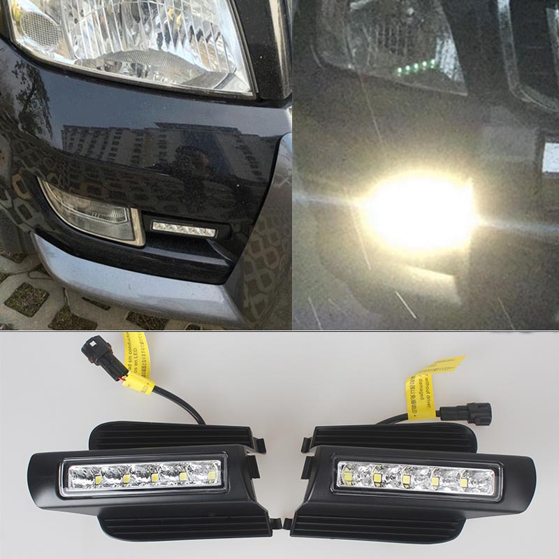 NEWEST LED Daytime Running Light For Toyota Prado 120 LC120 GRJ120 2003~2009 Fog Lamp DRL Bumper Light Accessories Parts купить